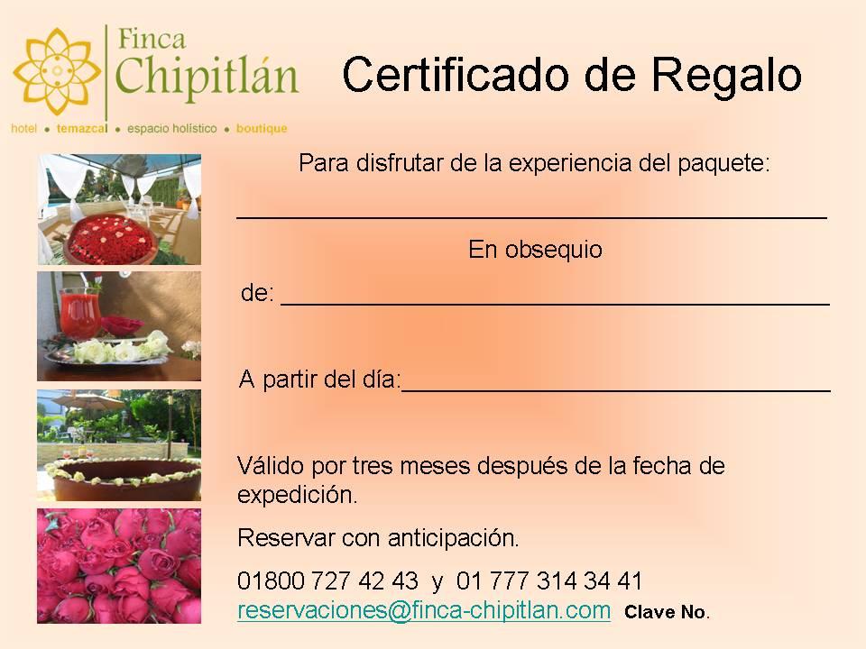 Certificado De Regalo Paquete Salud Y Armonia